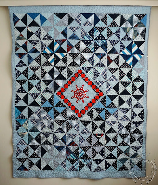 nautical patchwork quilt