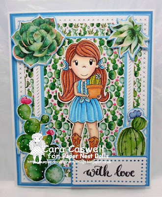 Ellie with Cactus Paper Nest Dolls Challenge Cara Caswell