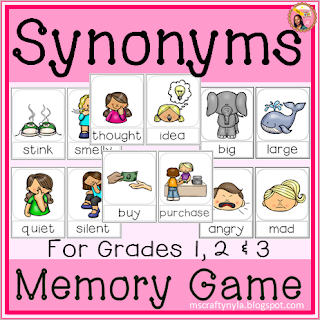 Synonym memory game