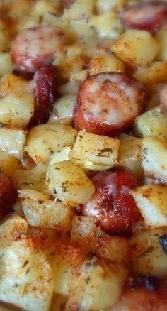 Oven-Roasted Smoked Sausage & Potatoes