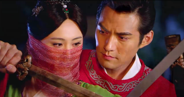 scene from ep2 in popular cdrama Three Heroes and Five Gallants starring Zheng Shuang, Yan Kuan