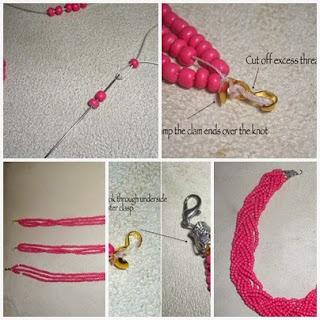 Cara Membuat Kalung manik-manik