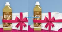 Logo Gioca e vinci gratis kit Lenor + e set lenzuola
