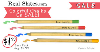 Colorful Chalk Sale going on at RealSlates.com!