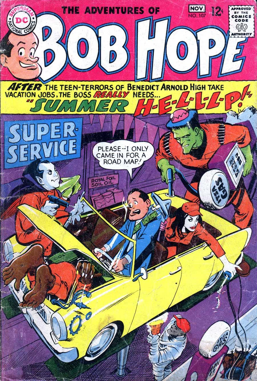 Adventures of Bob Hope v1 #107 - Neal Adams dc 1960s comic book cover art
