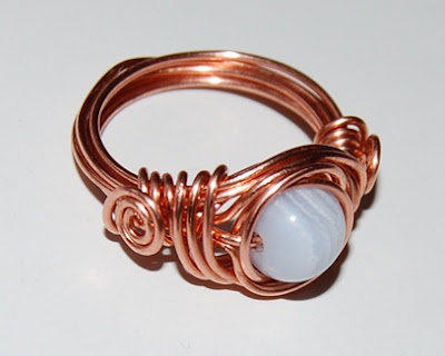 twice around the world (TAW) wire wrapped ring