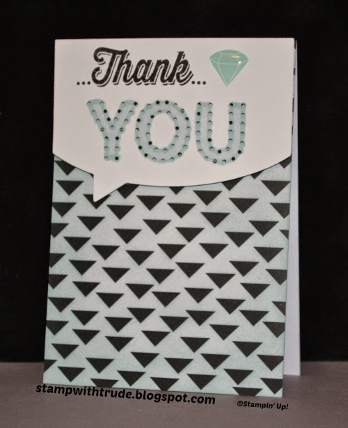 Paper Pumpkin, stampwithtrude.blogspot.com , Trude Thoman, Stampin' Up!, thank you card