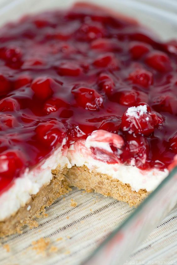 Cherry Delight #cherry #delight #cake #cakerecipes #dessert #dessertrecipes
