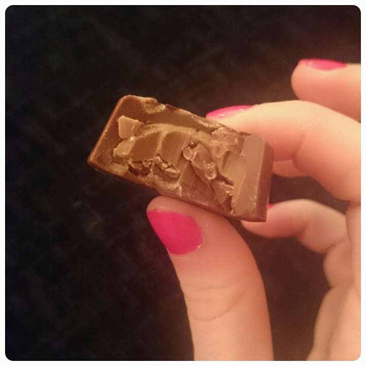 inside of hotel chocolat praline chocolate