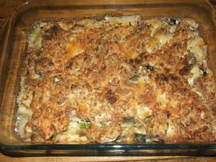 Scorzonera gratin cooked