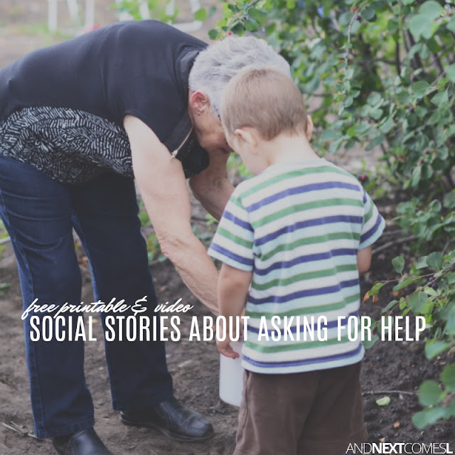 Free social stories about how to ask for help