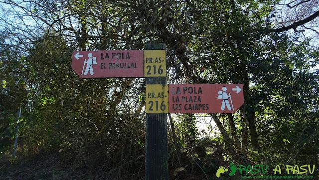 Cruce hacia el Rebollal o Les Campes