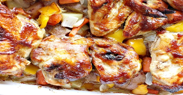 Oven Roasted Sweet And Sticky Chicken Recipe