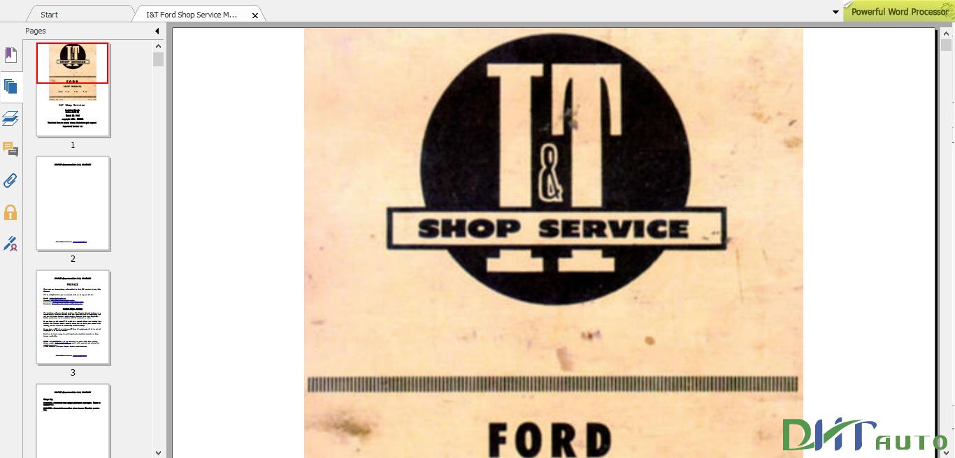 Ford Tractor 1953 I U0026t Fo-4 Service Manual