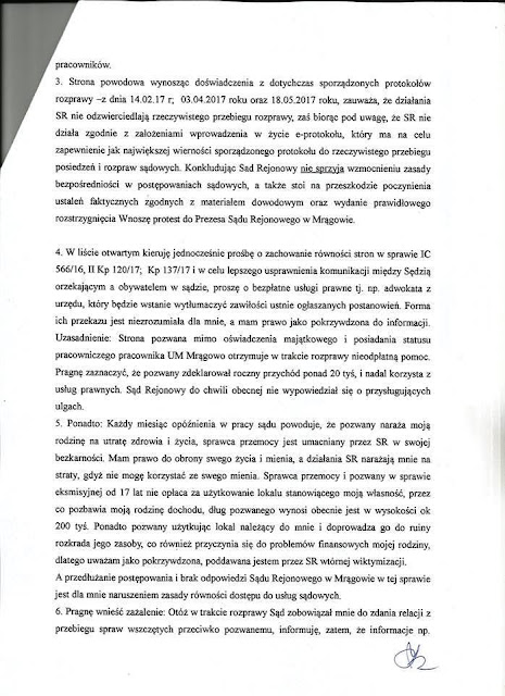 Sąd Rejonowy w Mrągowie wyjaśnia: sprawy rozpoznawane są przez niezawisłych sędziów, w sposób bezstronny