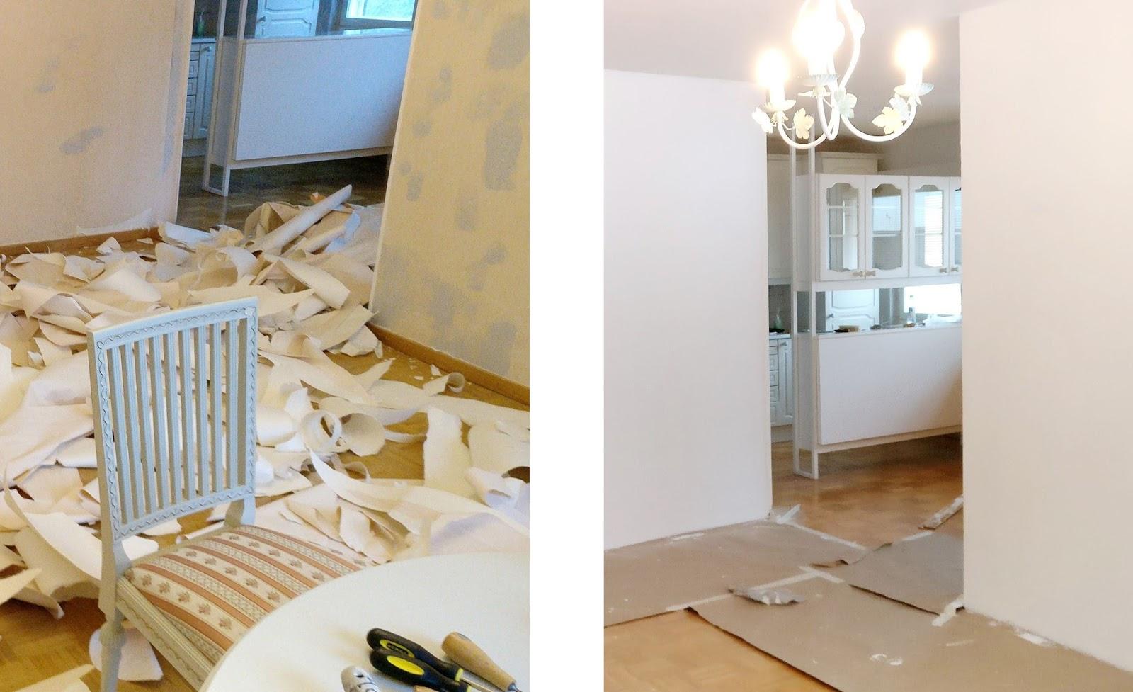 paint wall wallpaper maali seinät tapetti remontti renovation remontointi maalaaminen asunto koti sisustus interior home vinkkejä tips