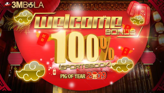 Welcome Bonus 100% 3MBOLA