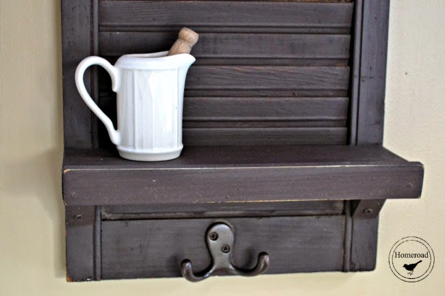 Use a Shutter to Build a Shelf