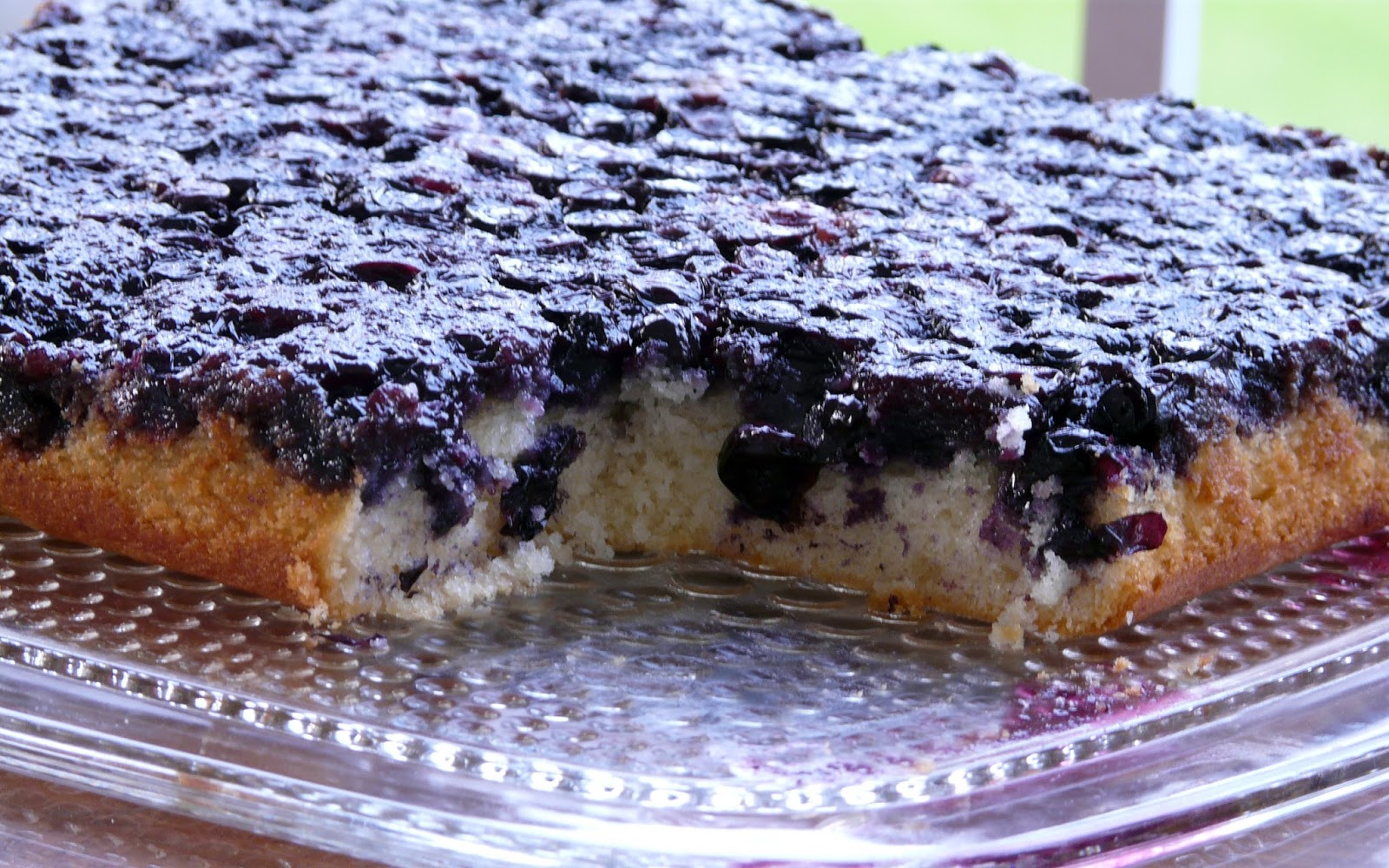 Blueberry Upside Down Cake Using Cake Mix
