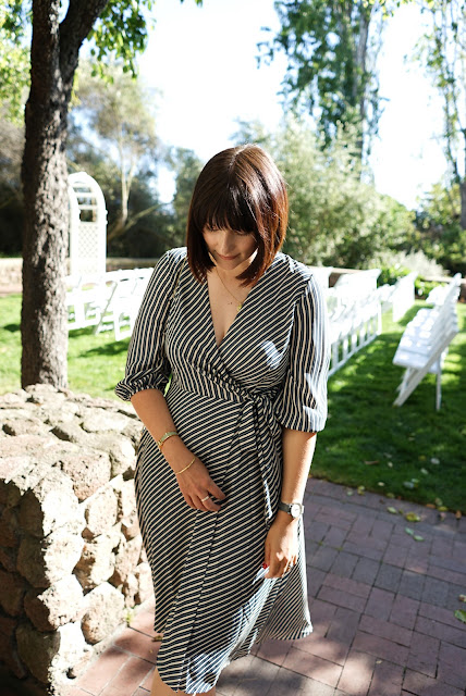 Whistles, ASOS, Wrap dress, wedding guest outfit, postpartum, mom blog, mom style, breastfeeding