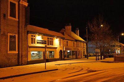 Snow scene in Brigg on January 19, 2015 - see Nigel Fisher's Brigg Blog