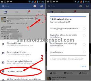 melaporkan berita bohong ke facebook