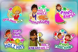 How to send WhatsApp stickers and Create customised stickers Holi-theme for Holi wishes on Holi 2019