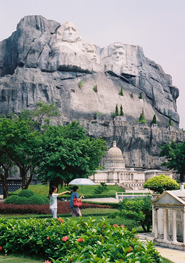 Mount Rushmore - Keystone, South Dakota / The Capitol Building, Washington D.C. - This Epcot-like Chinese Theme Park Is Equal Parts Creepy And Interesting