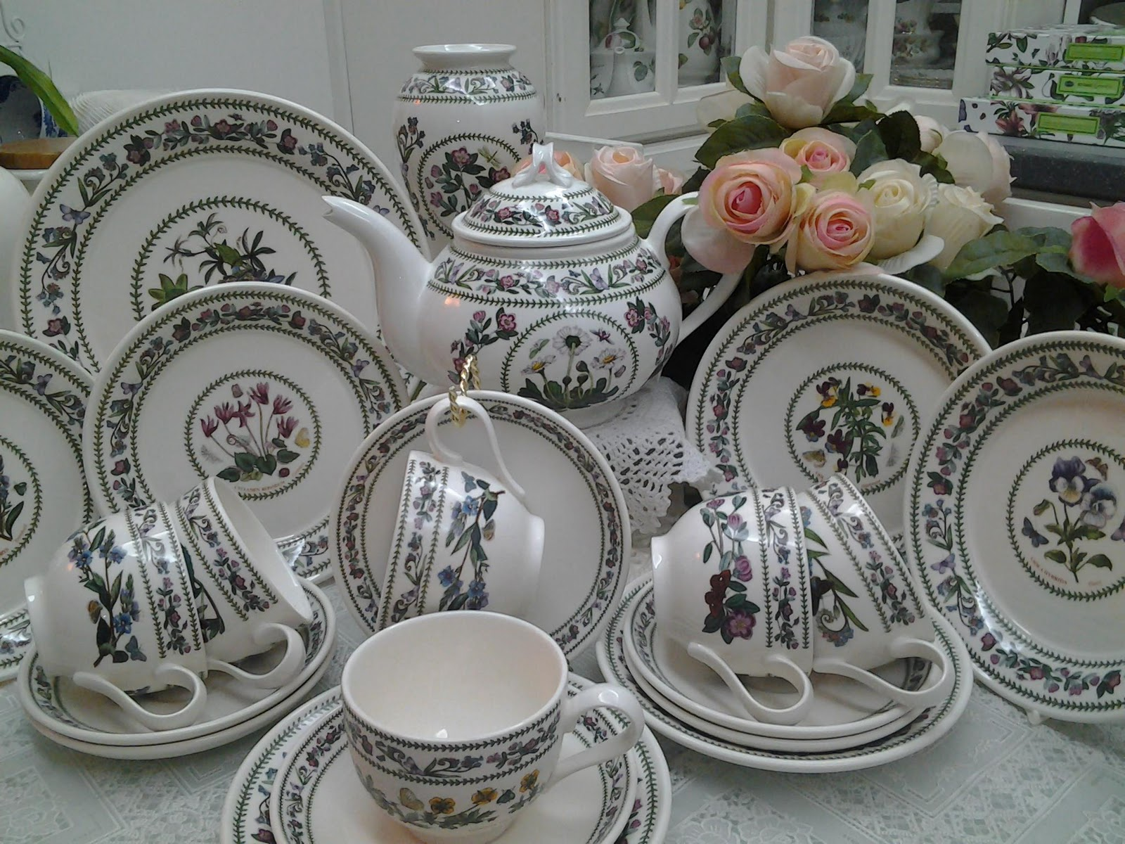 Lovely Treasures From English Garden Portmeirion Botanic Garden Variation Tea Set