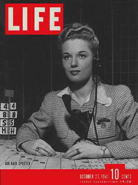 "Life magazine ""Air Raid Spotter,"" 27 October 1941 worldwartwo.filminspector.com"