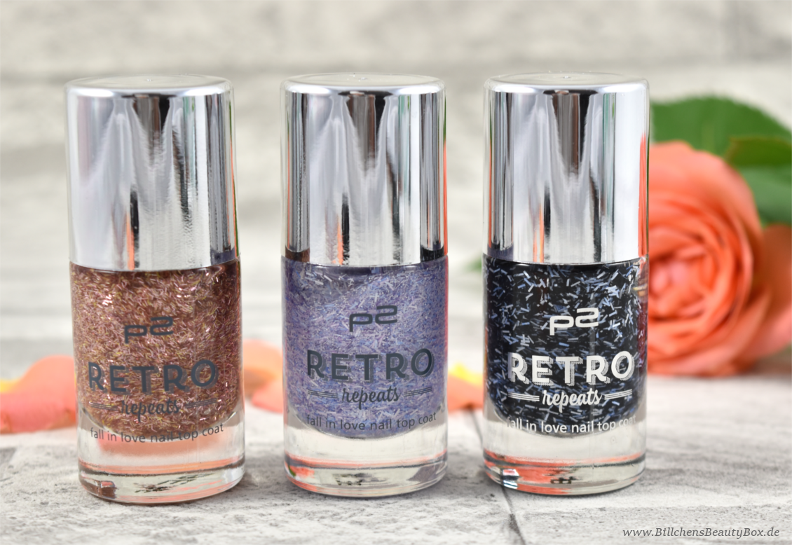 p2 cosmetics - Retro Repats - fall in love nail top coat