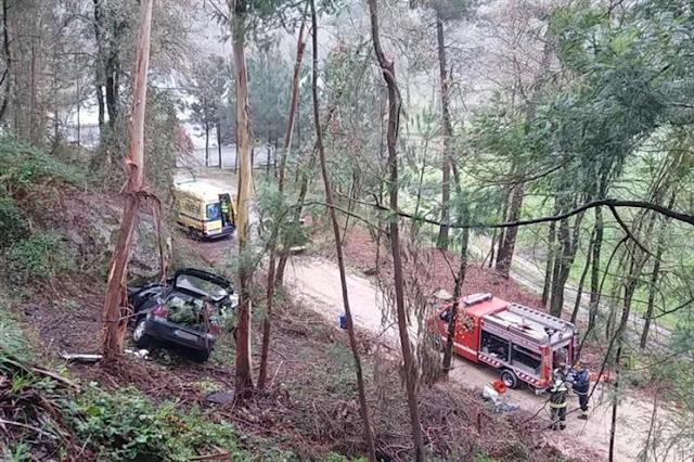 Fotografia: Braga - Jovem morre em despiste de carro numa ravina
