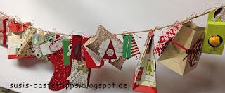 Swaps und Schachteln Adventskalender stampin up demonstratorin coburg weihnachten diy kalender