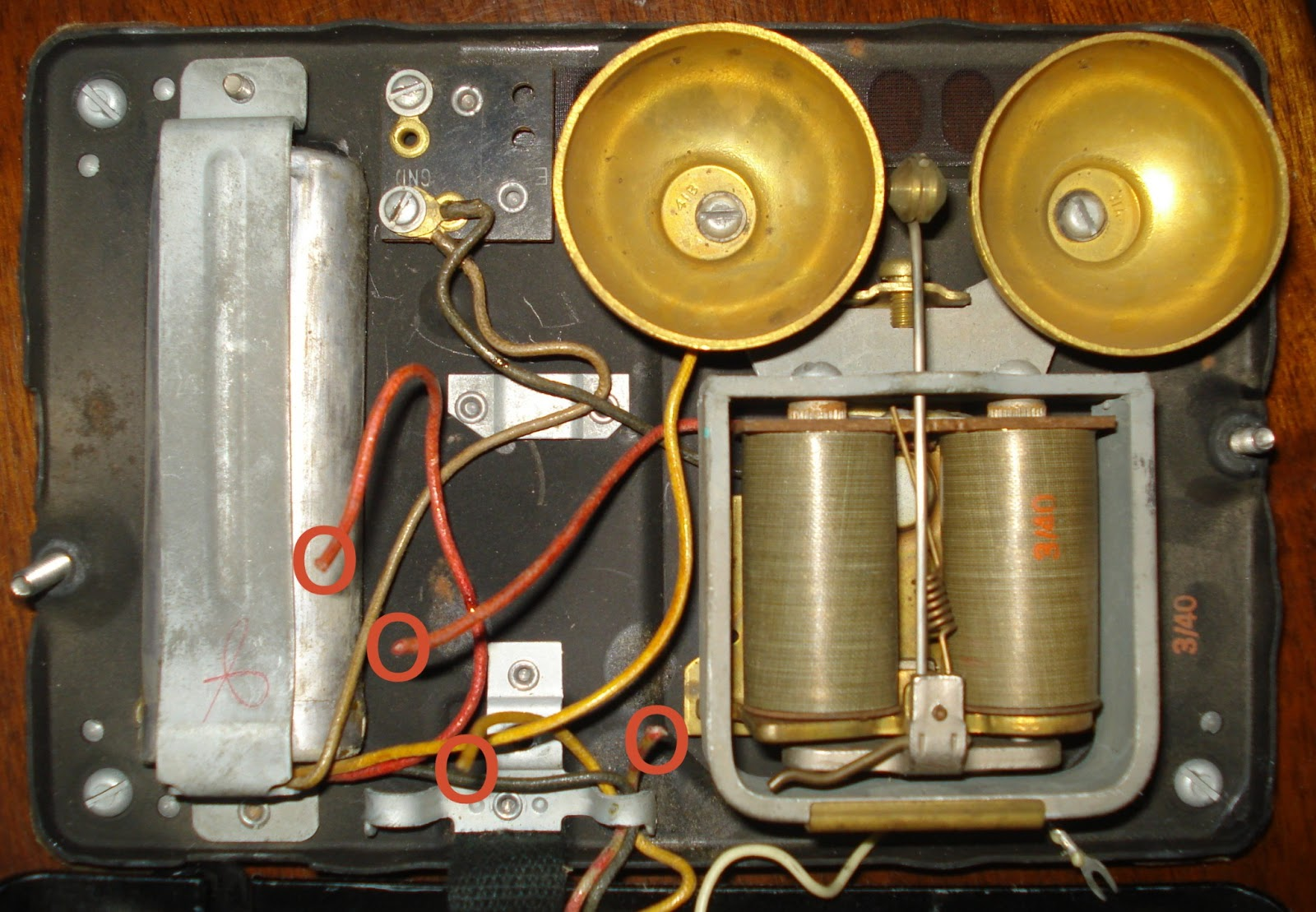 hight resolution of can you help me to rewire this very old telephone telephones old telephone wiring colors