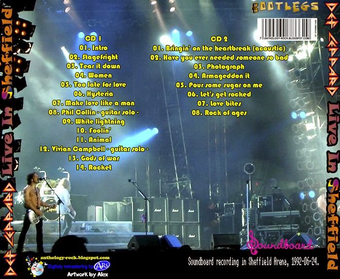 Rock Rare Records: Def Leppard - Live In Sheffield (1992) FLAC