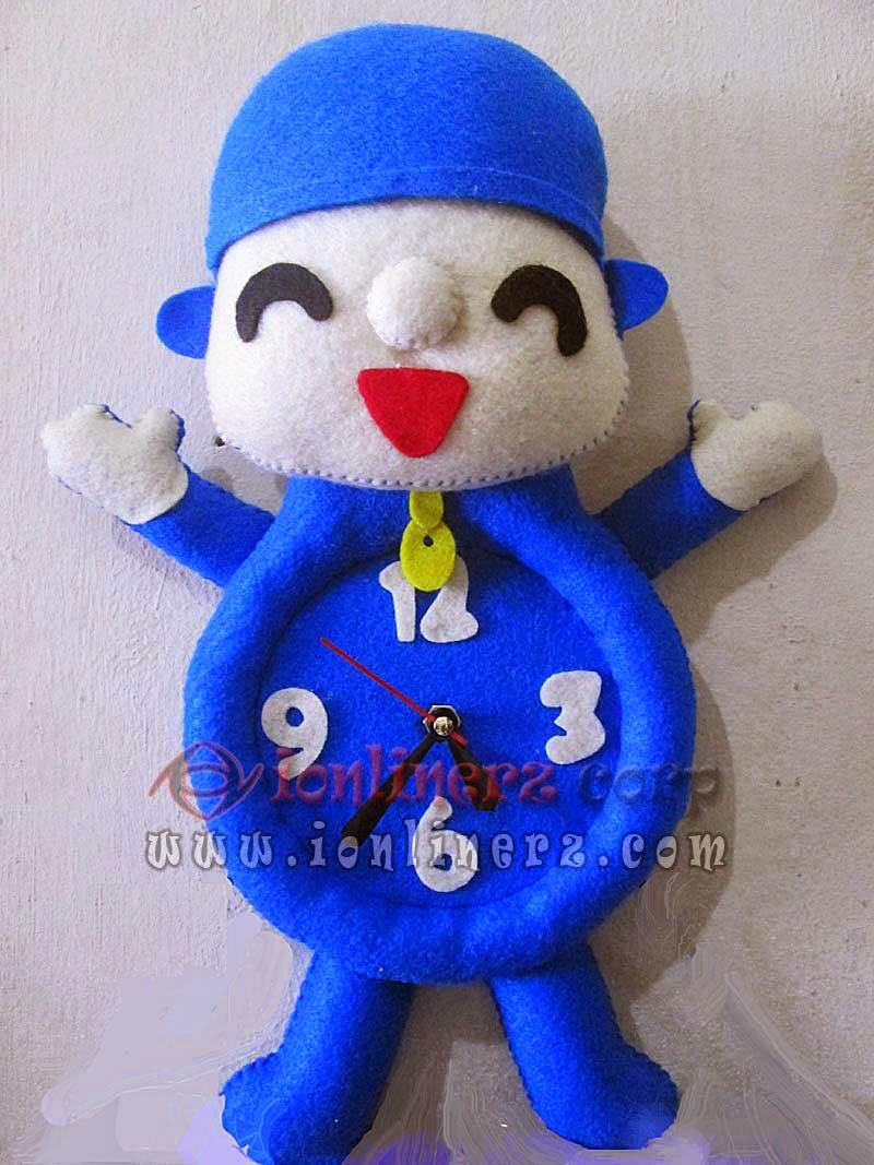 Jam Dinding Flanel Karakter Kartun Boneka Pocoyo