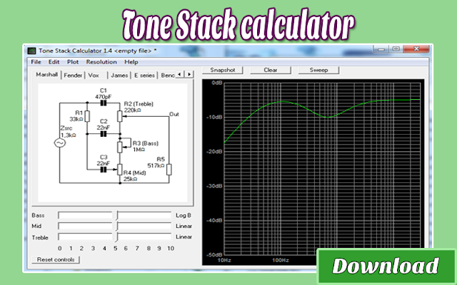 Download Tone Stack calculator | Kalkulator / Info & Softwares Elektronika