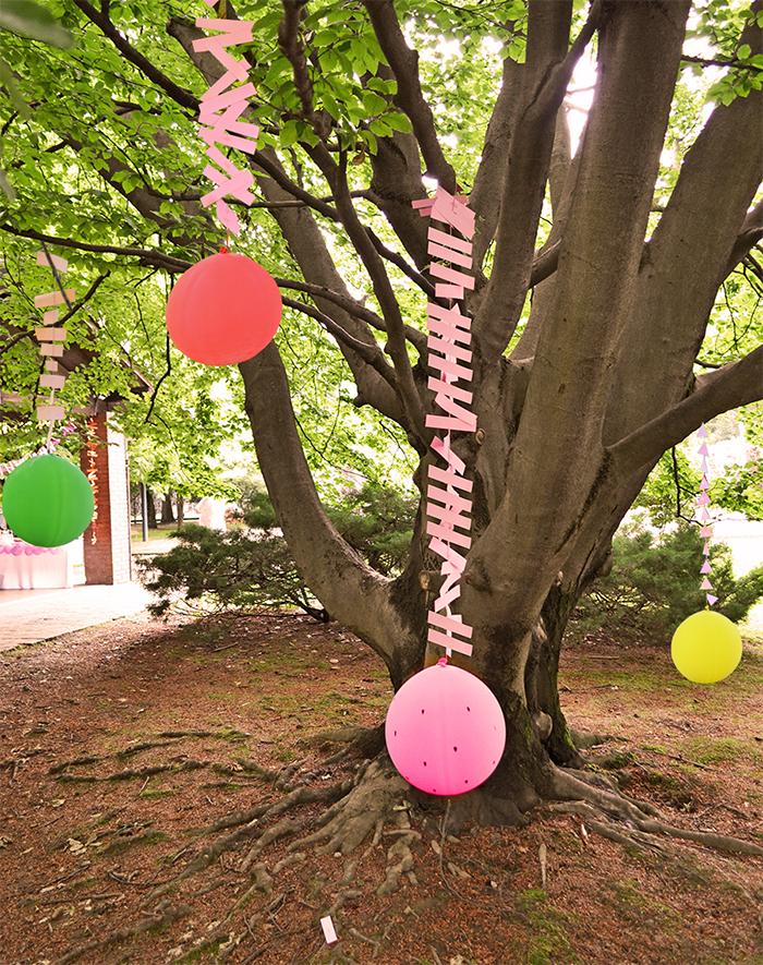 palloncini decorati con semini di anguria