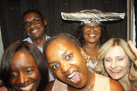 Photo booth fun with Foibe, Freddy, Dina, Patricia and Laimi
