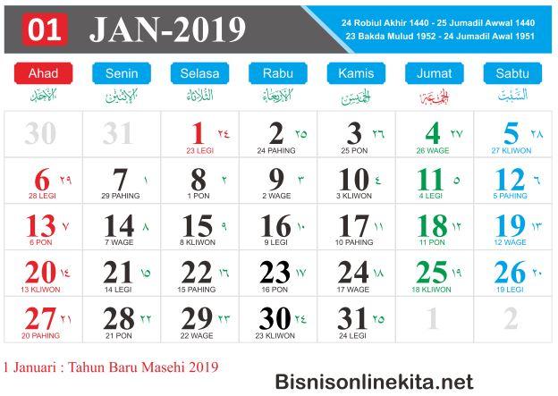 Kalender 2019 Bahagia Itu Sederhana
