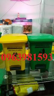 Thùng rác y tế, thùng rác y tế 15 lít, thùng rác y tế đạp chân giá rẻ