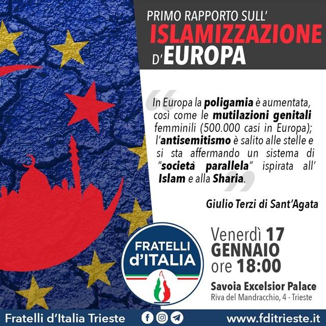 A Trieste la presentazione del Primo rapporto sull'islamizzazione d'Europa - Fondazione Farefuturo