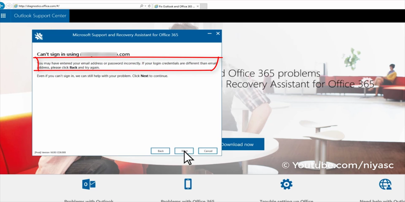 Outlook 365 login issues solved | Fix outlook 365 problem (full