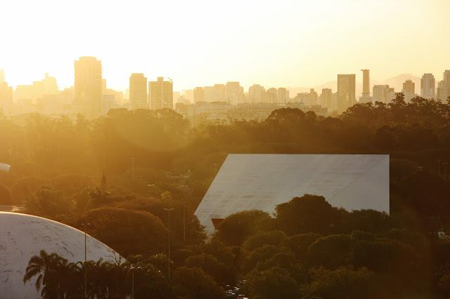 Pôr do Sol no Ibirapuera, em São Paulo.