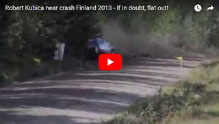 Robert Kubica near crash Finland 2013 - If in doubt, flat out!