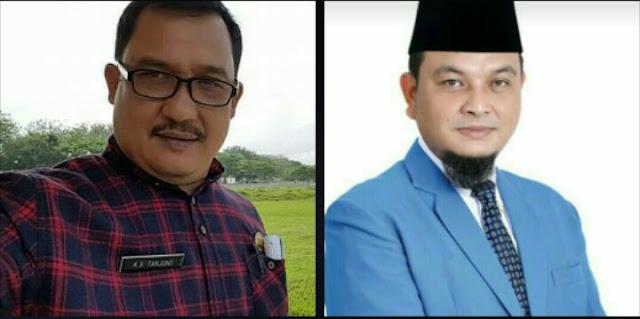 Kabid Pemberitaan Infokom Asahan Arbin Tanjung (kiri), Ketua DPD KNPI Asahan Agus Ramanda (kanan)