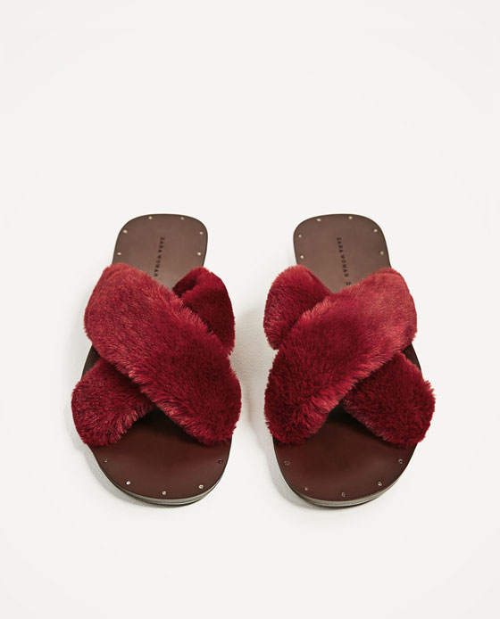 sandali con pelo zara
