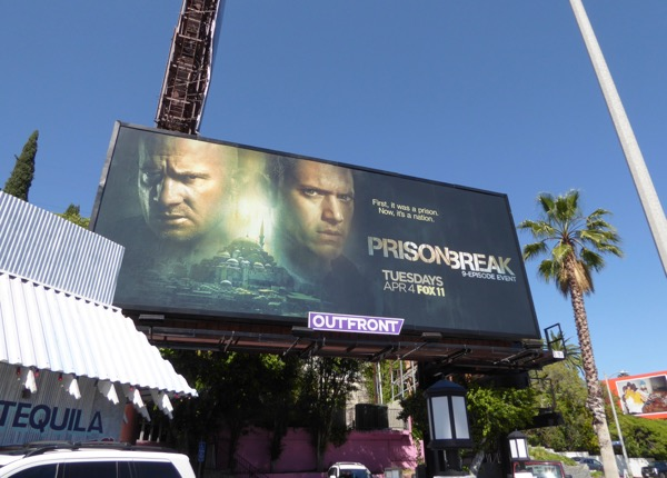 Prison Break TV revival billboard