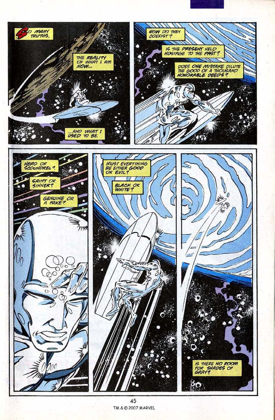 Read online Silver Surfer (1987) comic -  Issue #50 - 47