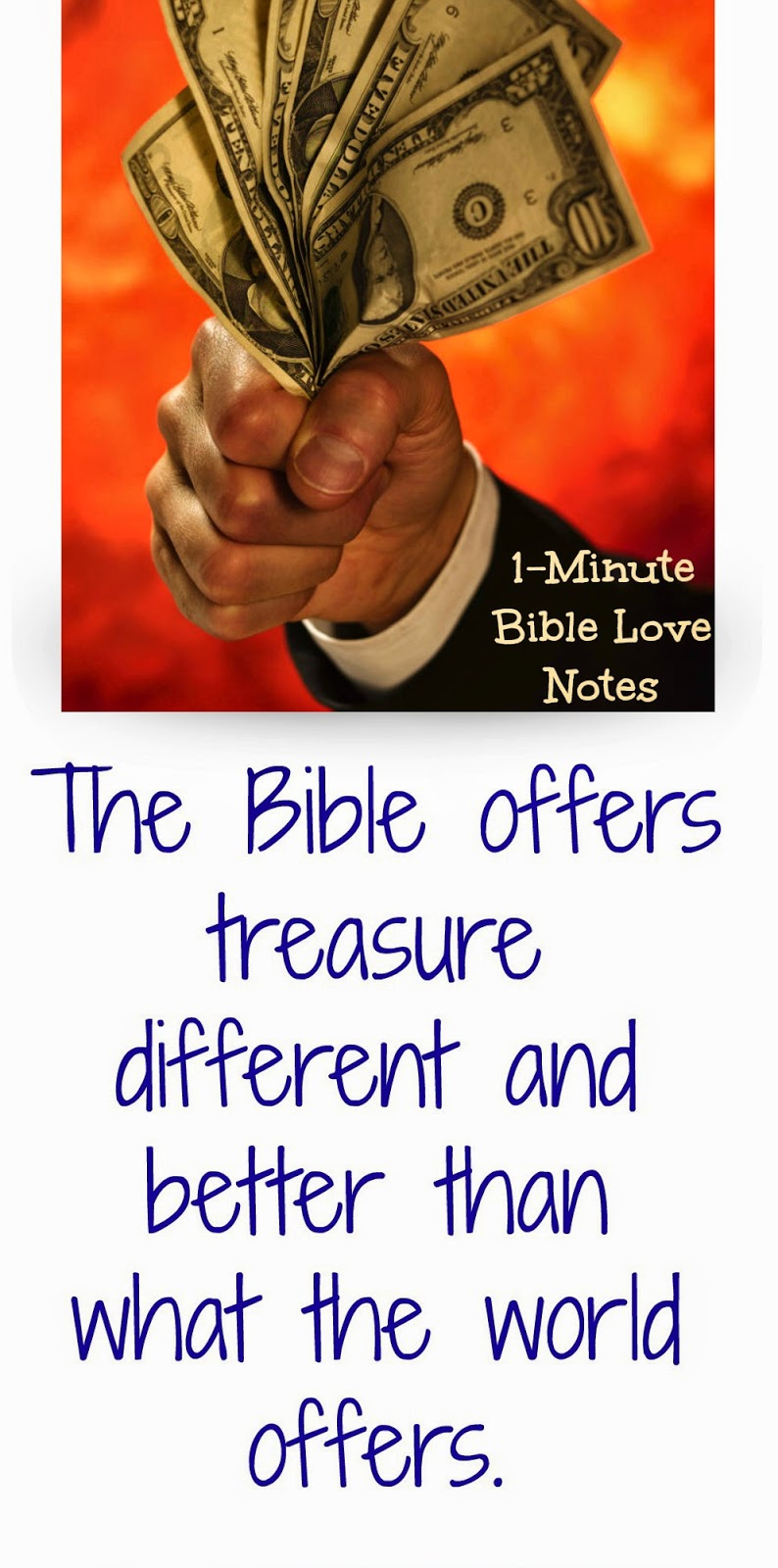 Psalm 19, Bible treasure versus worldly treasure